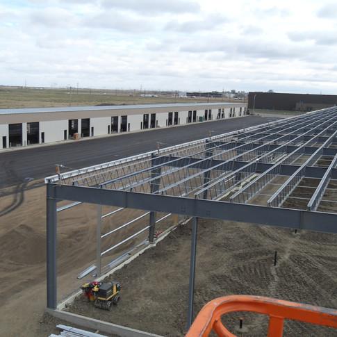 Commercial condo in Saskatoon pree-engineered metal building package construction.JPG