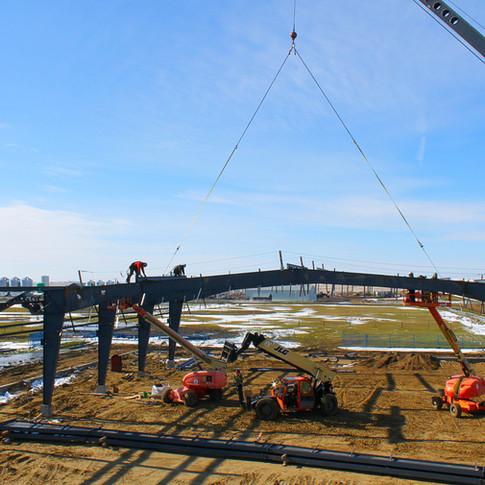 Roofline View Of Purlin Work Crane.JPG