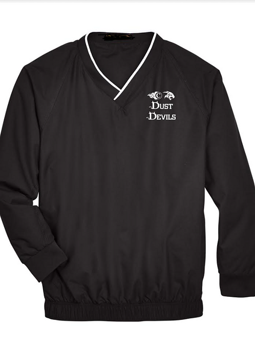 Sport-Tek Tipped V-Neck Raglan Wind Shirt