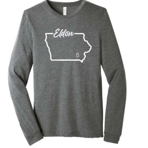 Eldon (Grey Triblend Long Seeve T-Shirt)