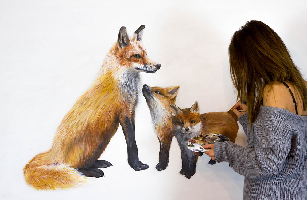 Sophie Green Fine Artist Painting Fox