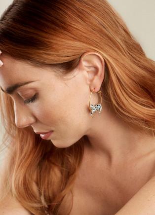 18k Gold Leopard Earrings