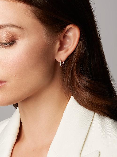 18k Small Fantasie Diamond Hoop Earrings