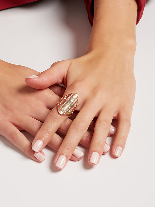 18k Champagne Bubble Ring