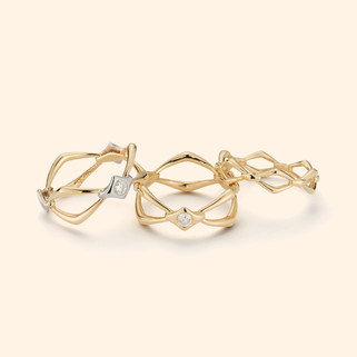 18k Yellow Gold Rings