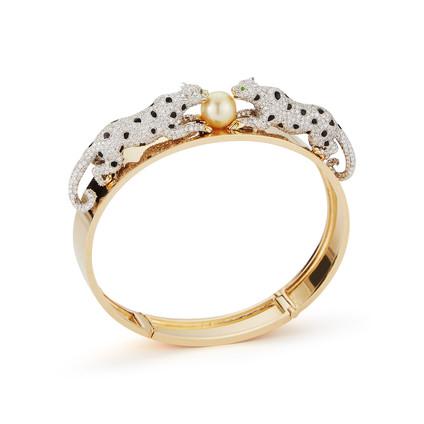 18k Gold Leopard Bracelet