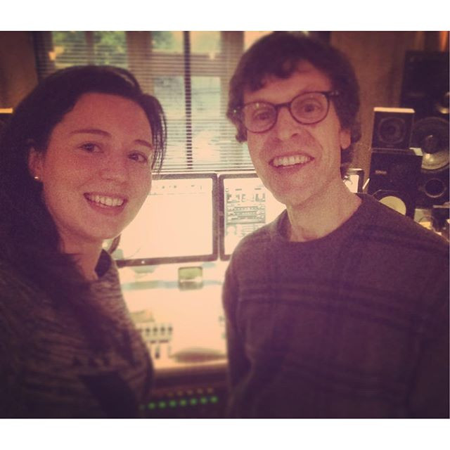 Producer George Shilling and myself in his studio