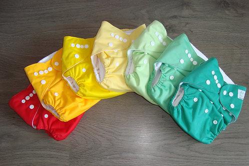 Pack 6 bolsillos colores planos