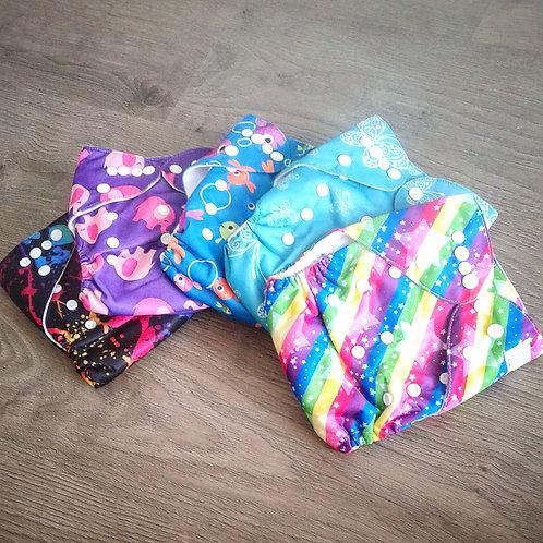 Pack 6 bolsillos diseños estampados