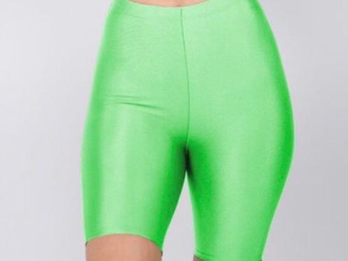 Neon Lime Biker Shorts