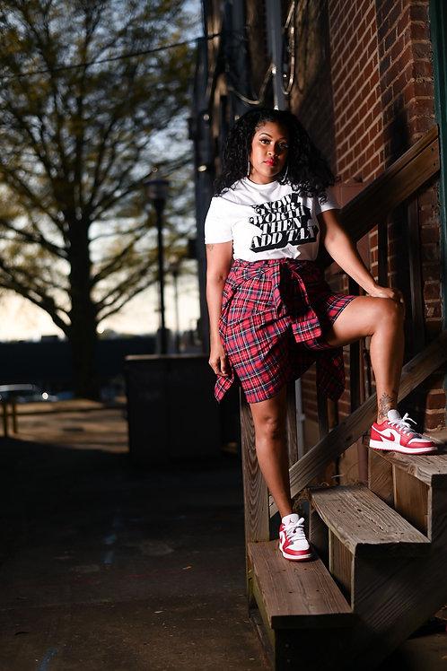 Aaliyah Plaid Shorts(Red/Black)