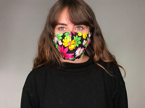 Adults Washable Masks – Meets WHO Guidance (Neon Floral)