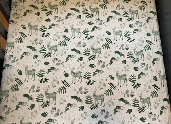 Outdoor Green Crib Sheet