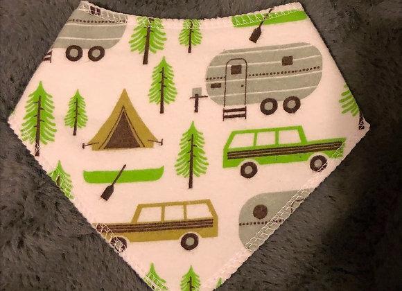 Camping in the Woods Bandana Bib