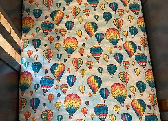 Hot Air Balloon Ride Crib Sheet