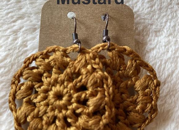 Large Crochet Earring