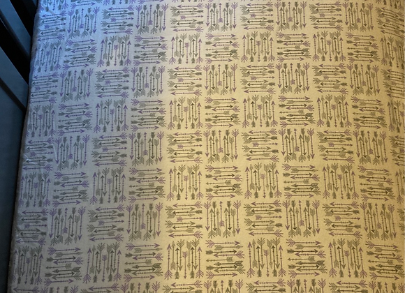 Purple and Gray Arrow Crib Sheet