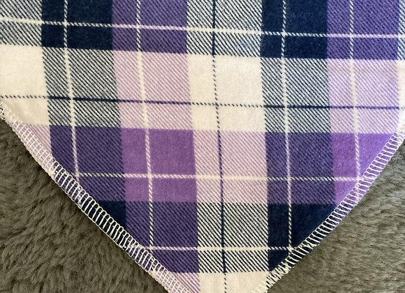 Purple Plaid Bandana Bib