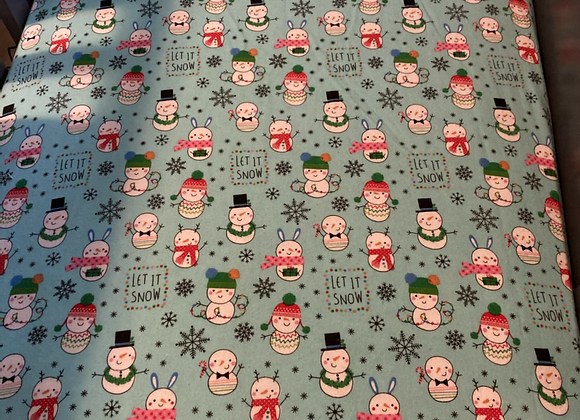Let it Snow Crib Sheet