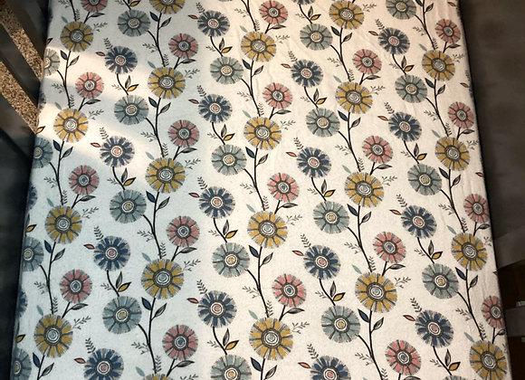 Circle Floral Crib Sheet