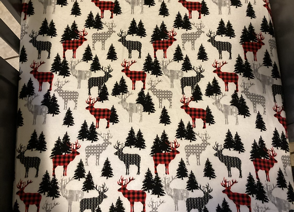 Holiday in the Woods Crib Sheet