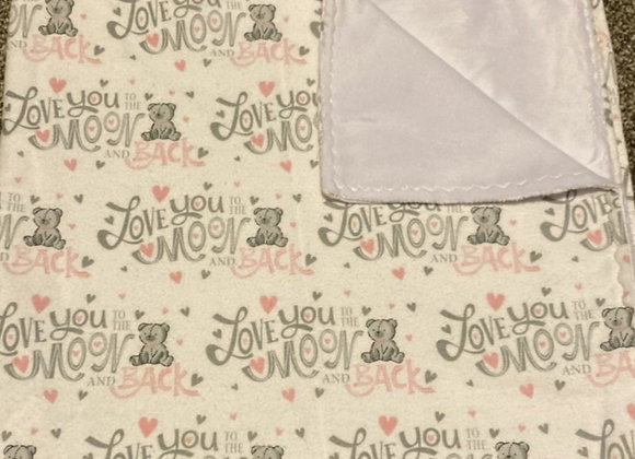 Love you to the Moon and Back (pink) Blanket