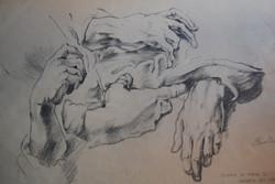 Studio di mani di Andrea del Sarto