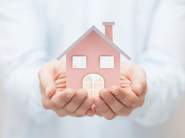 Small toy house in hands .jpg