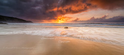 Spectacular sunset at Porthtowan