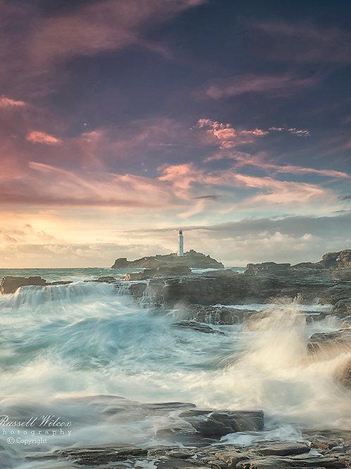 Storm waves at Godrevy