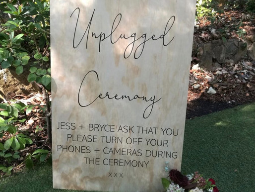 """Benefits of an """"Unplugged"""" Ceremony"""