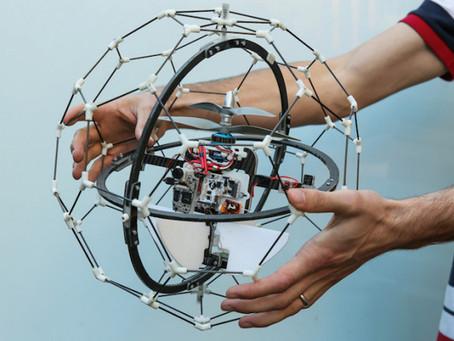 This Drone has big GimBalls