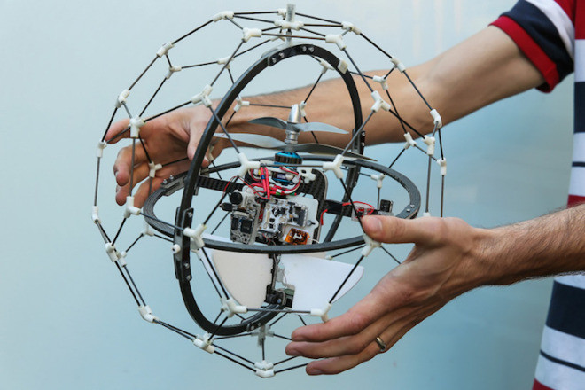 GimBall drone with carbon fiber protective cage