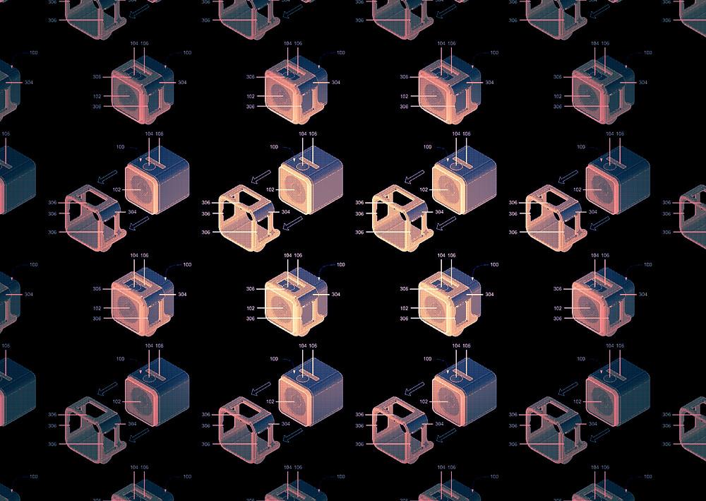 GoPro square action camera patent image