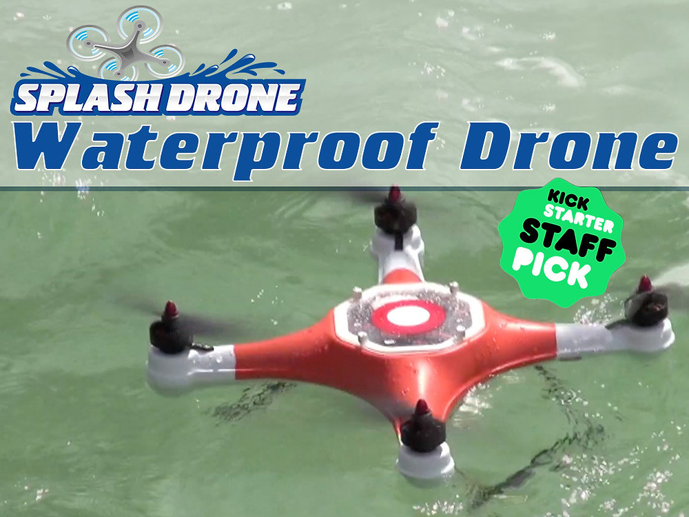 splash drone waterproof drone