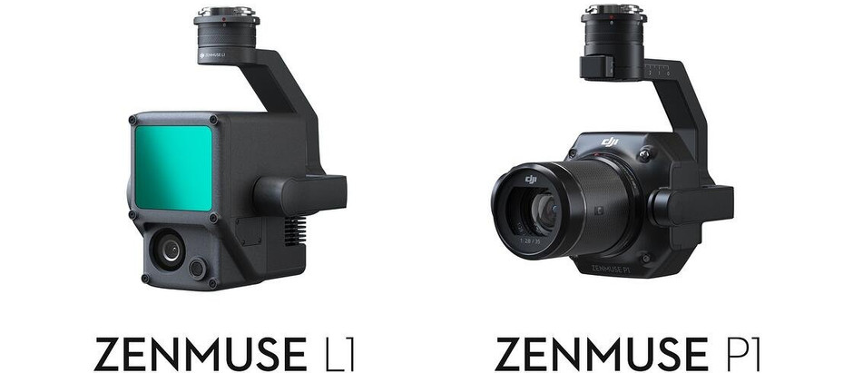 DJI announces the release of the Zenmuse L1 and Full-frame P1 Payloads