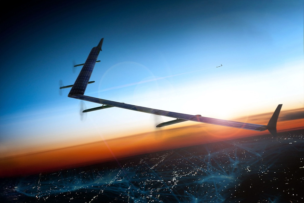 facebook solar drone in flight