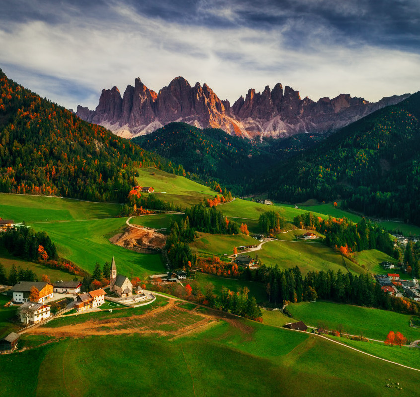Santa-Maddalena-Village-3rd-place-Landscape-Professional-2017-SkyPixel-Photo-of-the-Year