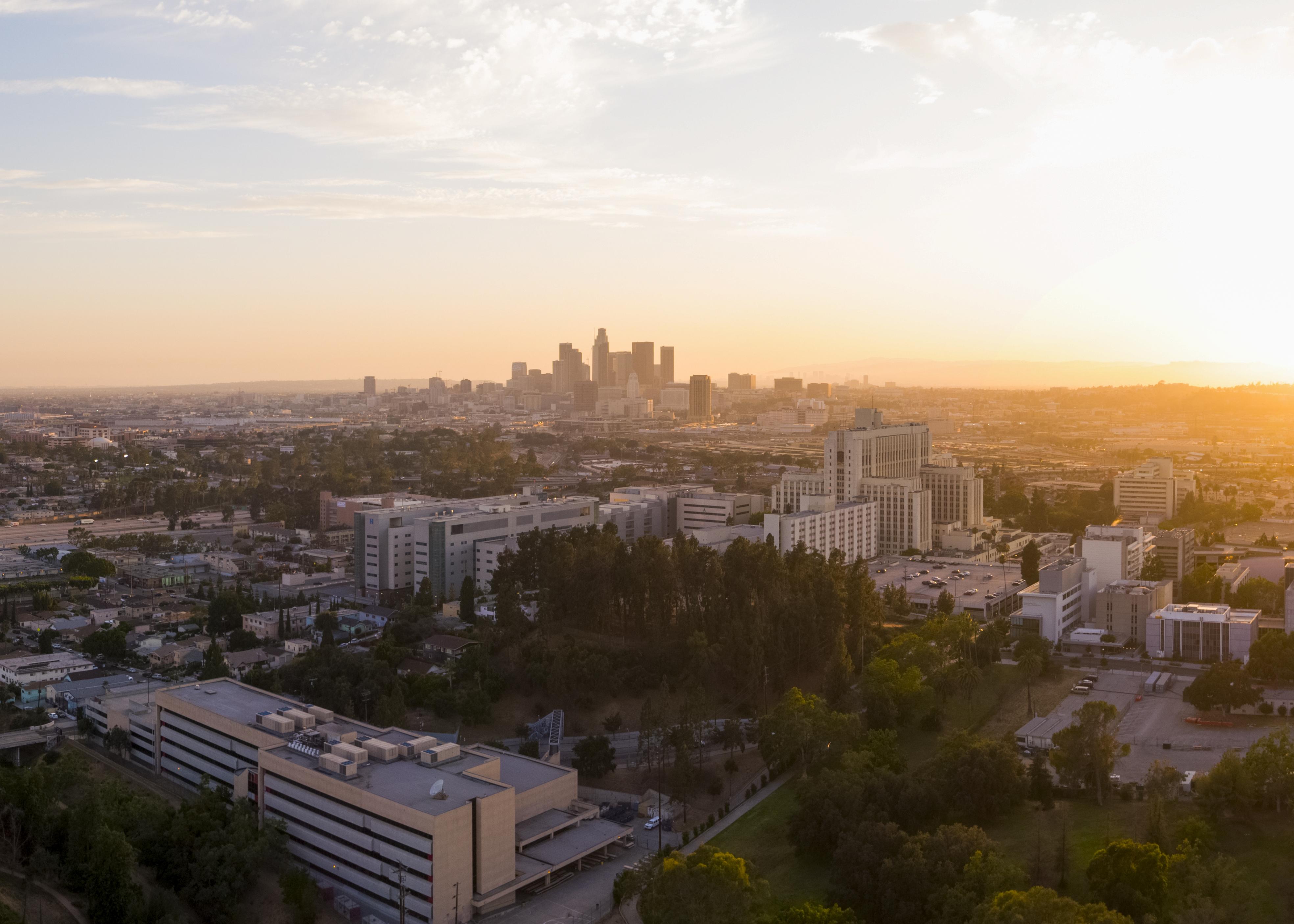 A New Day in LA - Keck MH Pano Orange Cr