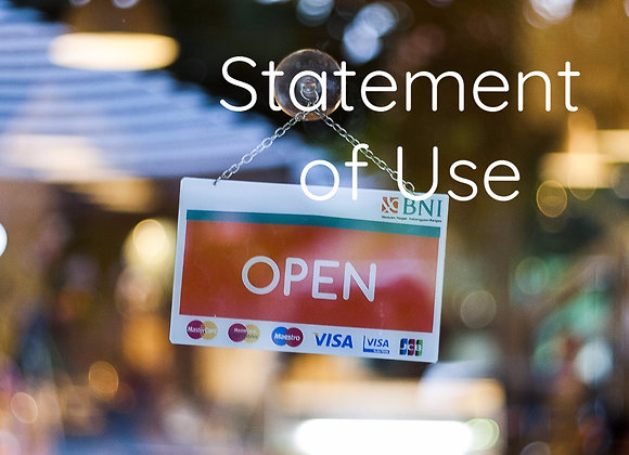Statement of Use or Extension Request