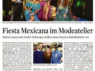 Mariachi Dos Aguilas bei der Präsentation der neuen Kostüme von Maria Lucas in Köln.