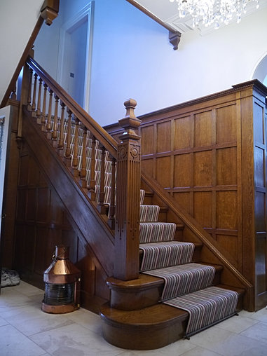 Oak Panelled Staircase