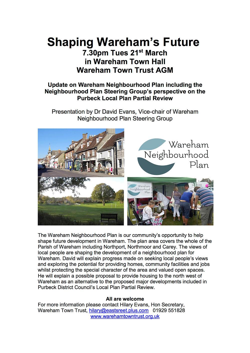 Shaping Wareham's Future - AGM 2017