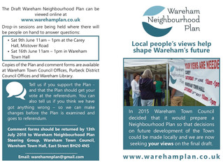 Local people's views help shape Wareham's future.