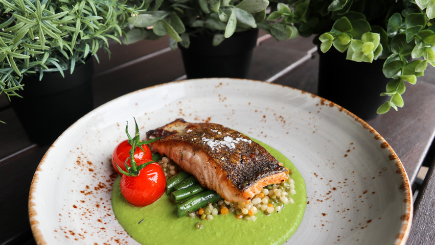 Salmon Romesco