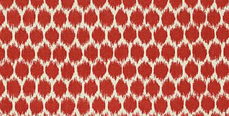 Modern Red Fabric - Red - White - Fabric