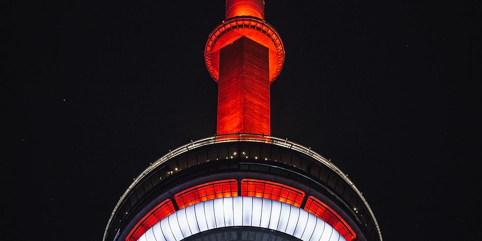 CN Tower Night Lighting