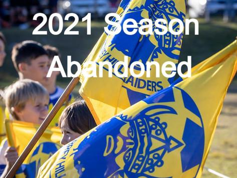 MWFA 2021 SEASON ABANDONED