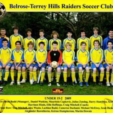 BTH Under 15 2009.  Coached by legends Brett Budd and Craig Mitchell.