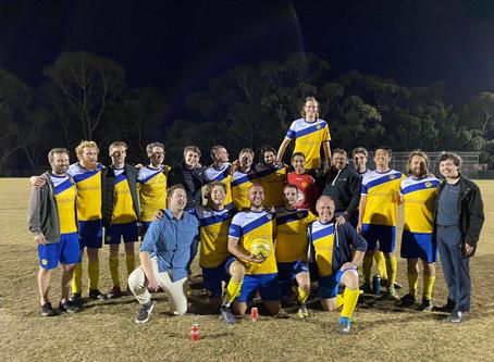 AL9 (Men's All league division 9) win 4-2 in 1 vs 2 FINAL, 2 October 2020
